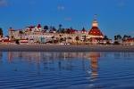 Hotel Del Coronado Beach at Dusk